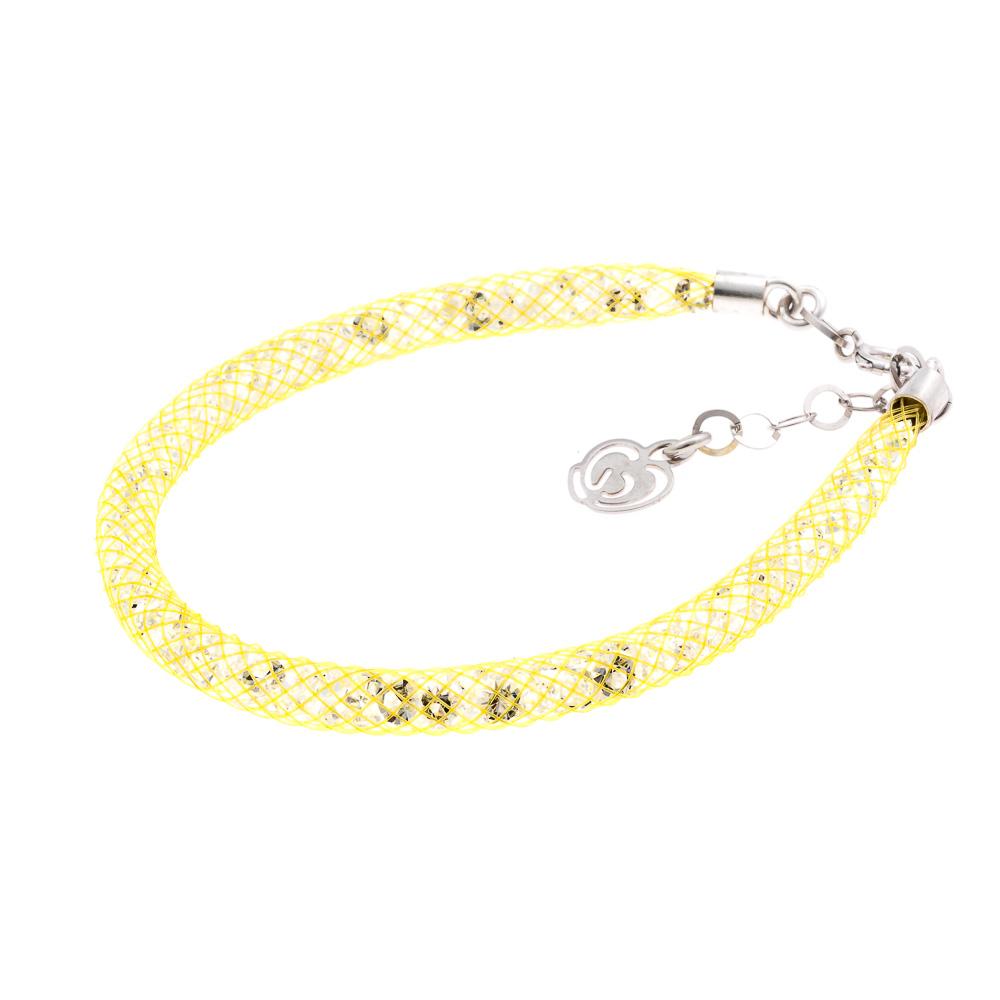 bracciale argento-925-cristalli color giallo
