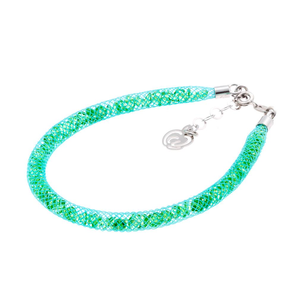 Bracciale argento verde acquamarina