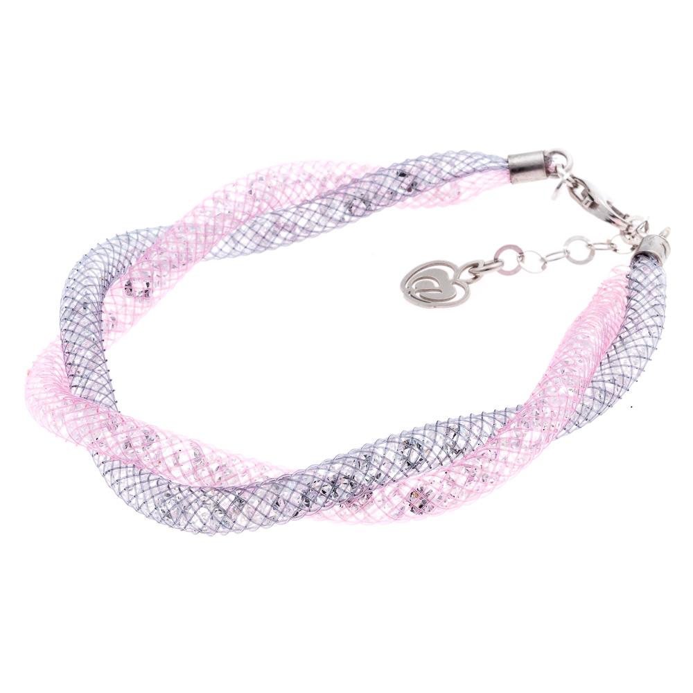Bracciale-INTRECCIATO-rosa-collezione-infinito