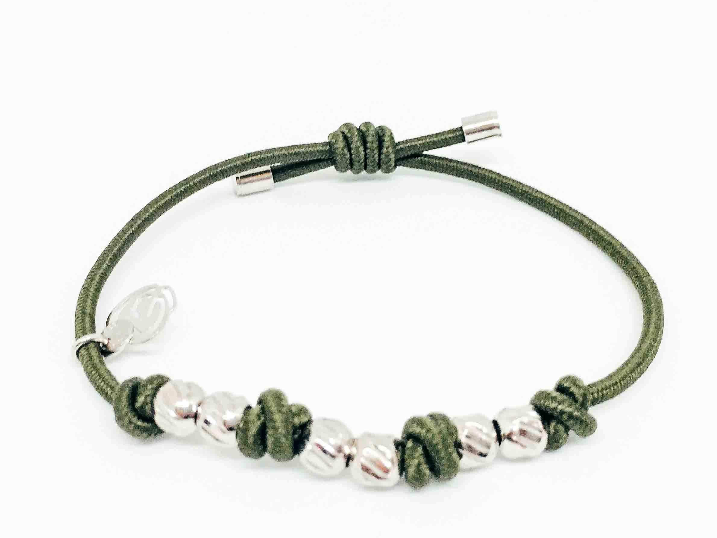 Bracciale-verde-per-capelli ed argento