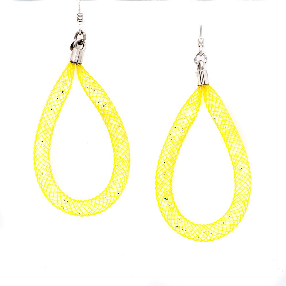 orecchini argento gialli