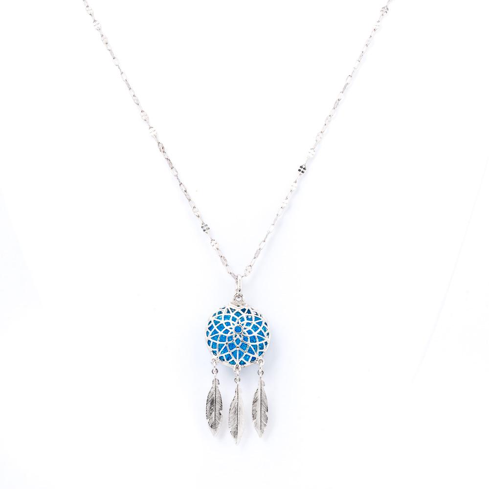 Caramella-Gioielli-acchiappasogni in argento azzurro