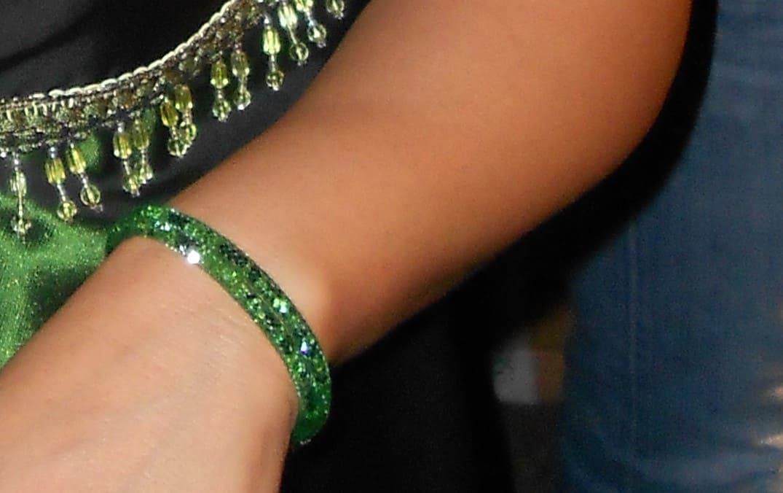 bracciale a doppio giro argento verde
